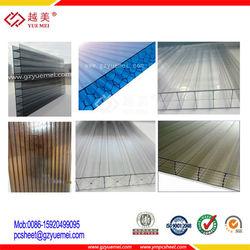 10mm greenhouse triple walled multiwall polycarbonate sheet