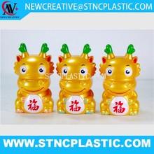 Plastic Chinese dragon shape Saving Coin Boxes money bank