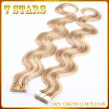 100% Human 6A Brazilian Virgin Remy Tape Hair Extensions 8-30 inch body wave ombre remy tape hair extension fast shipping