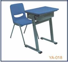 Blue color single person study desk cheap child reading table