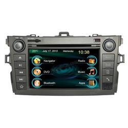 7 inch high quality touch screen double din car stereo car audio system for toyota corolla