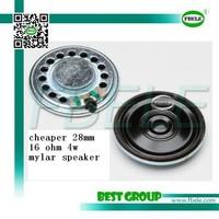 cheaper 28mm 16 ohm 4w mylar speaker FBF28-1T