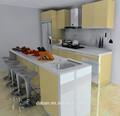 Fabrika fiyat entegre sarı mutfak dolabı/dolap mutfak miami