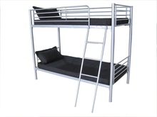 Twin-Over-Full Bunk Bed, Silver Bunk bed Image color silver