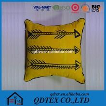 handmade printing car sofa home decorative linen cushion