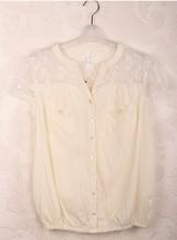 HIJ-14-LB-12-001 woman lace V-neck blouse