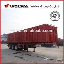 Wolwa small cheap box semi trailer for sale