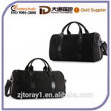 Plain Leather Handle Travel Kit Bag Expandable Duffle Bag