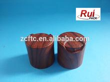2015 new design wood effect disc cap, 24/410 cosmetic wood dis cap