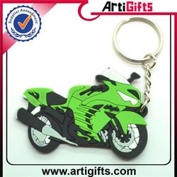 Wholesale souvenir rubber motorcycle keyring
