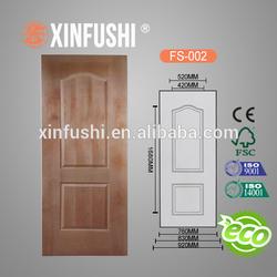 E1 glue ,Natural teak or recon/engineering teak veneer faced MDF moulded door