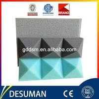 colorful durable density studio sound proof polyurethane studio sound foam blue acoustic foam