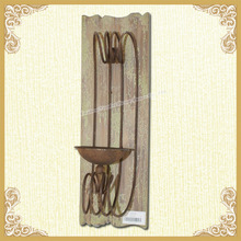 Wooden wall candlestick shabby