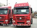 Nuevo 2015 sinotruk howo camión tractor 4x2/420hp/doble cabeza de la cama para la venta