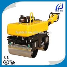 YL34C 6.0HP gasoline double drum vibration roller asphalt/soil road roller