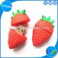 tamanho pequeno flash usb stick de morango logotipo personalizado frutos em forma de pen drive