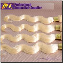 Fashion Brands DK virgin human european blonde virgin remy hair,Double drawn dark blonde hair dye