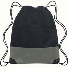 190t nylon plain orange drawstring back bag