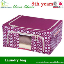 Clothes beddings metal frame organizer, Garment organizer bag, Foldable frame box