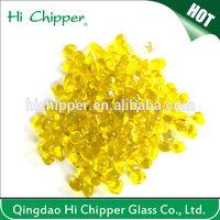 Iridescent decorative yellow bead treasures glass beads for swimming pool