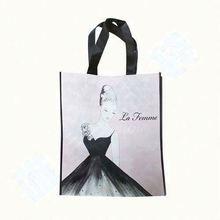 High quality silk screen print non woven shopping bag