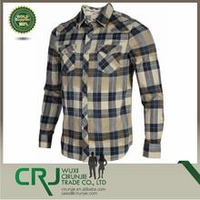 Men ' s Edgeware xadrez camisa estilo ocidental - creme azul personalizado camisa de flanela