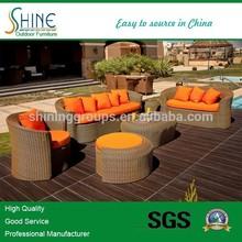 morden outdoor patio rattan sofa bed furniture(SOF5034)
