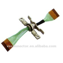0.5mm FPC cable solder with green wire throught metal hinge for DV
