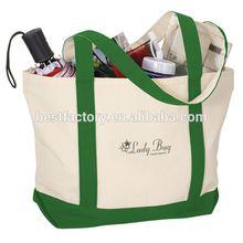 Cotton Canvas Tote Bag Long Handle Canvas Bottle Bag