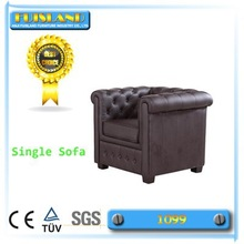 European style / American style single PU sofa living room furniture