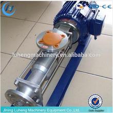 G series single Stainless Steel Screw Pump for transporting high viscosity medium