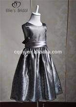 2015 Latest cheap silver children frock model kids casual wear dress wholesale frock designs for teenage girls