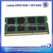 Verified 204PINs 1.35V SODIMM 1600mhz 8bits 8gb ddr3 ram