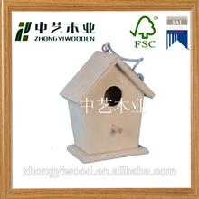 customize FSC wood bird house bird cage bird home