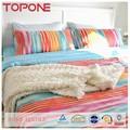 Novo design bastante elegante lindo arco-íris 100% algodão colorido bordado colcha