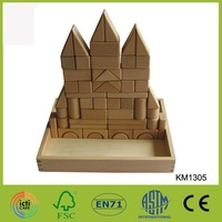 China Factory Castle Blocks Wooden Education Block Toys