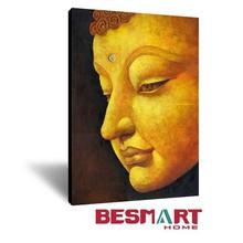Popular Buddha Face Canvas Wall Art / Elegant Zen Feeling Wall Art / Yoga Meditation Hanging Wall Picture