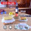 limpar acrílico armazenamento de recipientes de vidro de armazenamento de botijões de cozinha