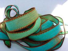 Sand and Sea silk ribbon By Color Kissed Singles silk ribbon webbing band