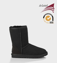 Classic short 5825 Black Australia Sheepskin Warm boots