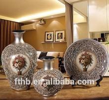2015Ceramic vase modern minimalist living room home decoration crafts stylish three-piece vase