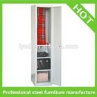 Free Standing single door steel locker metal wardrobe armoire