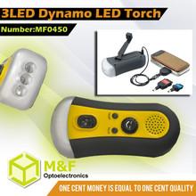 wind up solar dynamo flashlight lantern light with FM radio band