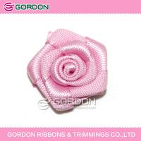 satin flowers,making ribbon rosette ,Satin Ribbon Bows Wedding Pink