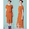 de alta calidad midi vestido de encaje para la mujer casual larga de vestido de encaje vestido de china
