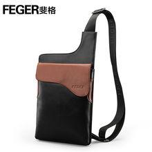 No. 3106 FEGER sport man leather shoulder sling bag for boys