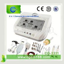CG-1311 Desktop Fashion 6 in 1 microdermabrasion machine parts for salon use