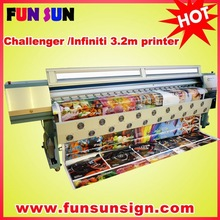 Challenger 3.2m Canvas Printing Machine / Canvas printer (8seiko head ,double 4 color discount price )