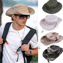Fishing Hiking Boonie Snap Brim Military Bucket Cap Men SV003003