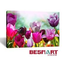 Tulips Flower Canvas Print / Tulip Field Photo Print Framed Wall Art Canvas